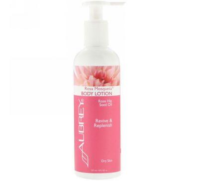 Aubrey Organics, Body Lotion, Rosa Mosqueta, Dry Skin, 8 fl oz (237 ml)