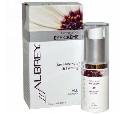 Aubrey Organics, Укрепляющий крем против морщин для кожи вокруг глаз, 0,5 жидких унций (15 мл )