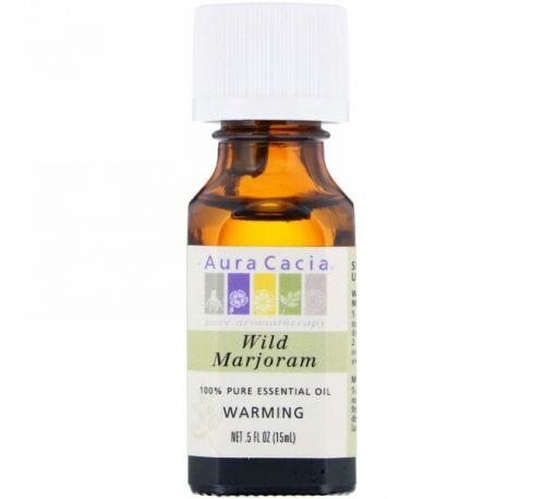 Aura Cacia, 100%-ное чистое эфирное масло, душица, 0,5 ж. унц. (15 мл)