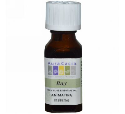 Aura Cacia, 100% эфирное масло лавра, тонизирующее, 15 мл