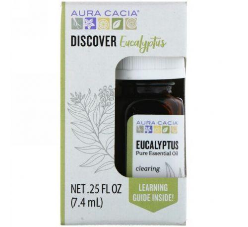 Aura Cacia, Discover Eucalyptus .25 fl oz (7.4 ml)