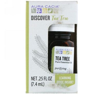 Aura Cacia, Discover Tea Tree, .25 fl oz (7.4 ml)