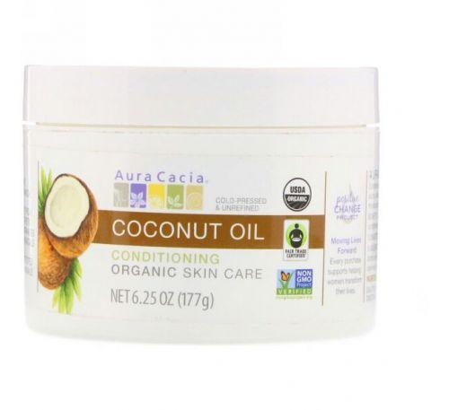 Aura Cacia, Органическое средство для улучшения состояния кожи, кокосовое масло, 6,25 унц. (177 г)