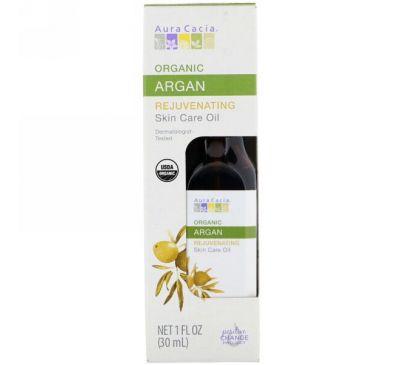 Aura Cacia, Органическое уходовое масло для кожи, омолаживающее, аргана, 1 ж. унц. (30 мл)