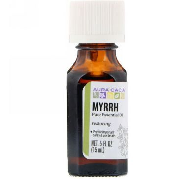 Aura Cacia, Pure Essential Oil, Myrrh, .5 fl oz (15 ml)