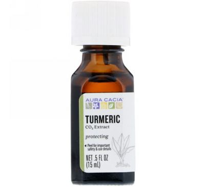Aura Cacia, Turmeric, CO2 Extract, .5 fl oz (15 ml)