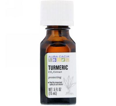 Aura Cacia, Turmeric, CO2 Extract, .5 fl oz (15 ml)