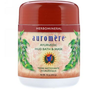 Auromere, Ayurvedic Mud Bath & Mask, 16 oz (454 g)