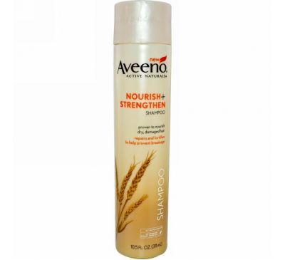 Aveeno, Active Naturals, Nourish+, Strengthen Shampoo, 10.5 fl oz