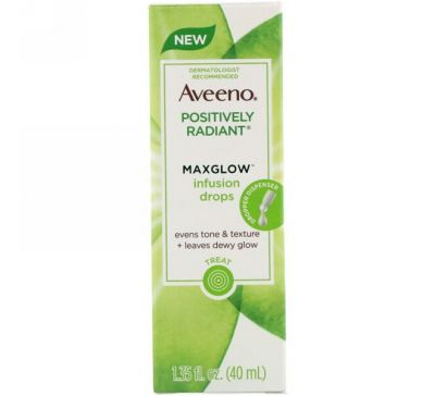 Aveeno, Positively Radiant, Maxglow Infusion Drops, 1.35 fl oz (40 ml)