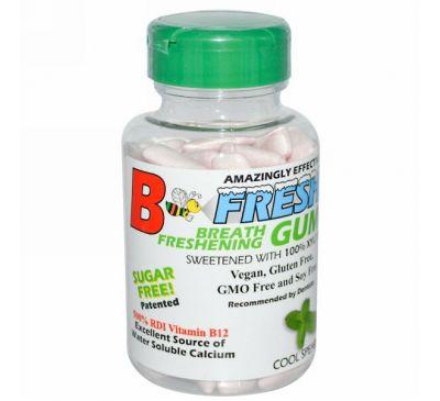 B-Fresh Inc., Освежающая дыхание жевательная резинка, Мятная прохлада, 100 штук