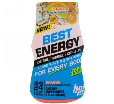 BPI Sports, Best Energy, Жидкий усилитель, апельсин, 2 ж. унц. (60 мл)