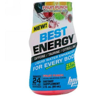 BPI Sports, Best Energy, Жидкий усилитель, фруктовый удар, 2 ж. унц. (60 мл)