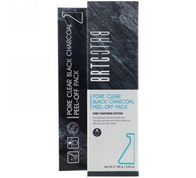 BRTC, Черная маска-пилинг с активированным углем для очищения пор, 3,53 унц. (100 г)