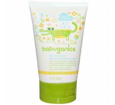 BabyGanics, Детский увлажняющий защитный крем против экземы для сухой кожи, 3 унции (85 г)