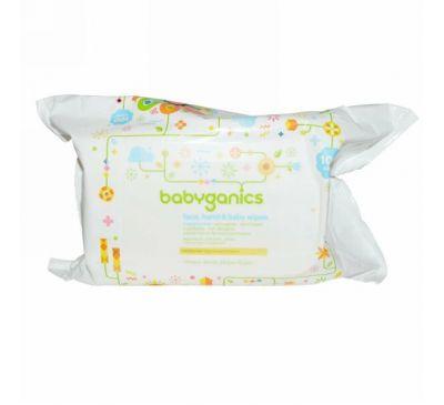 BabyGanics, Thick n' Kleen, Мягкие салфетки для ухода за кожей малышей, Неароматизированные, 100 салфеток
