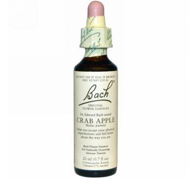 Bach, «Самобытная цветочная помощь», яблоня лесная, 0,7 жидких унции (20 мл)