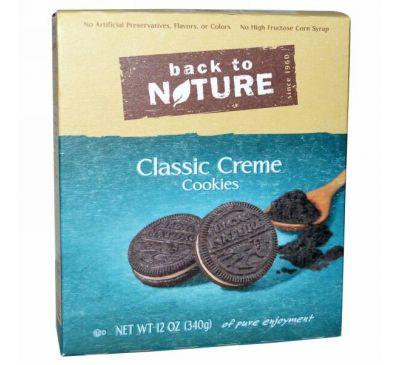 Back to Nature, Классическое печенье с кремовой прослойкой, 12 унций (340 г)