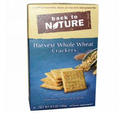 Back to Nature, Крекеры из цельной пшеницы, 8,5 унции (240 г)