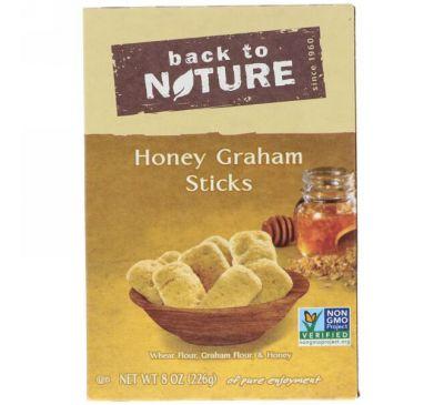 Back to Nature, Медовые палочки из муки грубого помола, 8 унций (226 г)