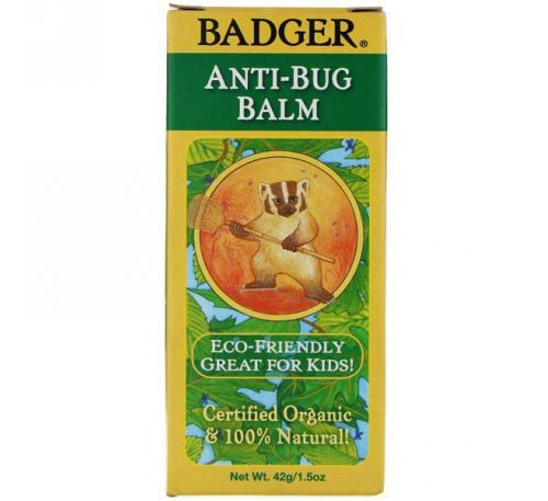 Badger Company, Organic, Anti-Bug Balm, 1.5 oz (42 g)