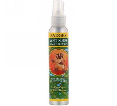 Badger Company, Органическое средство от насекомых, Встряхните и распылите, 4 жидких унции (118,3 мл)