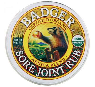 Badger Company, Sore Joint Rub, смесь арники, 56 г