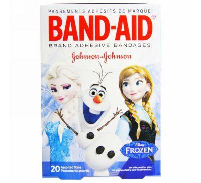 Band Aid, Adhesive Bandages, Disney Frozen, 20 Assorted Sizes