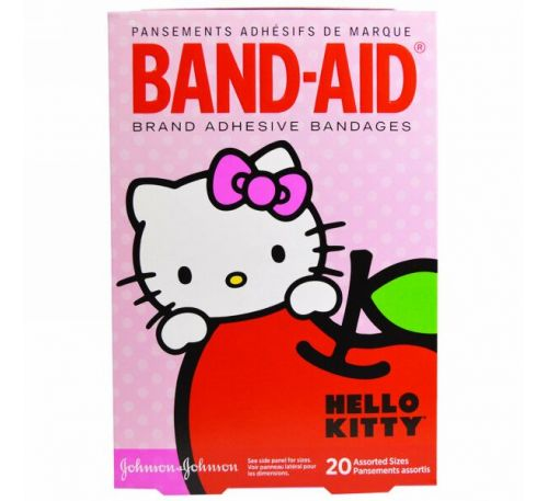 Band Aid, Adhesive Bandages, Hello Kitty, 20 Assorted Sizes