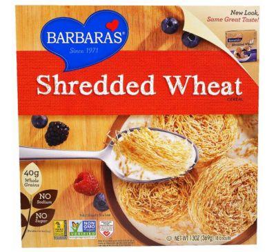 Barbara's Bakery, Измельченная пшеничная крупа, 18 печений, 13 унций (369 г)