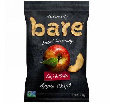 Bare Snacks, Хрустящие яблочные чипсы, красные и фуджи, 48 г