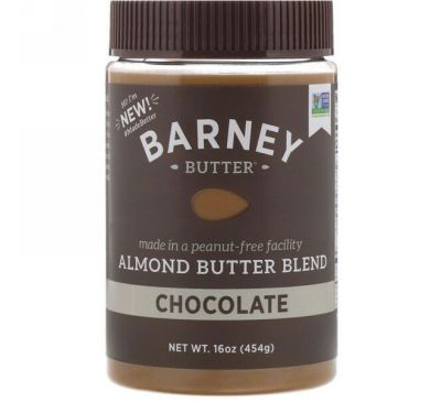 Barney Butter, Barney Butter, Almond Butter Blend, Chocolate, 16 oz (454 g)