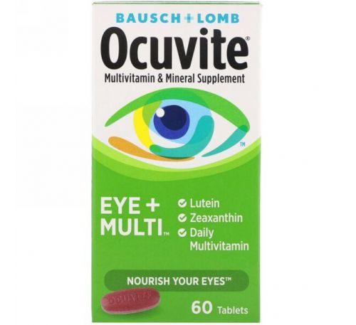 Bausch & Lomb, Глаза + мультивитамин, 60 таблеток