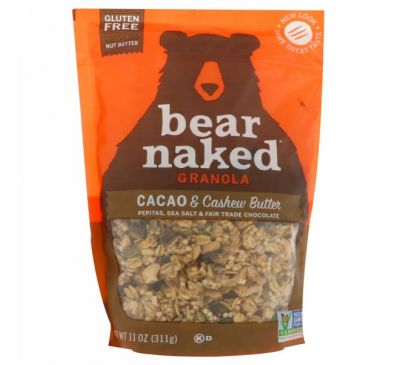 Bear Naked, Гранола, какао, масло кешью, 11 унц. (311 г)