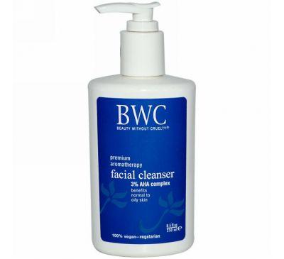 Beauty Without Cruelty, Очищающее средство для лица, комплекс с 3% АГК, 250 мл