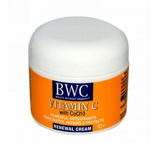 Beauty Without Cruelty, Восстанавливающий крем Витамин С с CoQ10 2 унции (56 г)