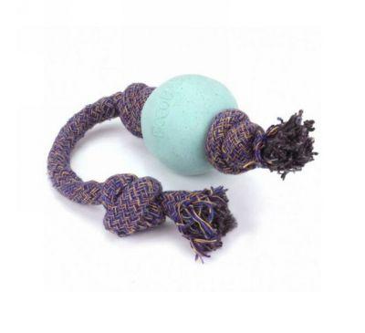 Beco Pets, Экологически безопасный мячик на веревочке для собак, маленький, синий, 1 мячик