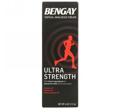 Bengay, Topical Analgesic Cream, Ultra Strength, 4 oz (113 g)