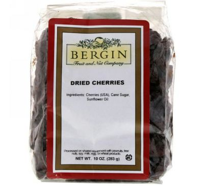 Bergin Fruit and Nut Company, Dried Cherries, 10 oz (283 g)