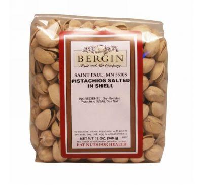 Bergin Fruit and Nut Company, Фисташки, соленые в скорлупе, 12 унций (340 г)
