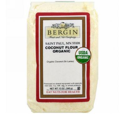 Bergin Fruit and Nut Company, Органическая кокосовая мука, 12 унций (340 г)