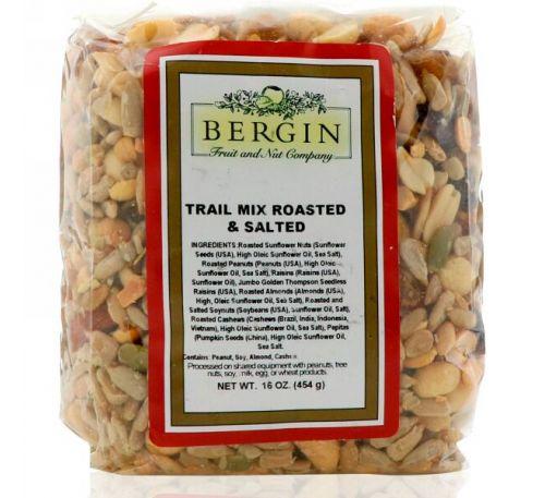 """Bergin Fruit and Nut Company, """"Походная смесь"""" обжаренные соленые орехи, 16 унций (454 г)"""