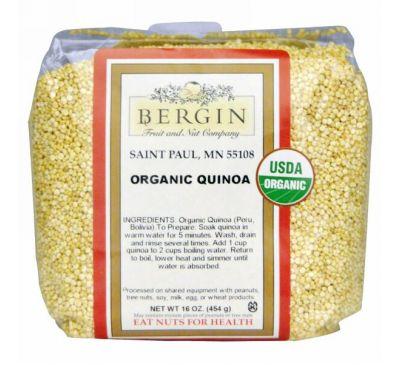 Bergin Fruit and Nut Company, Сертифицированная органическая квиноа, Цельный злак, 16 унций (454 г)
