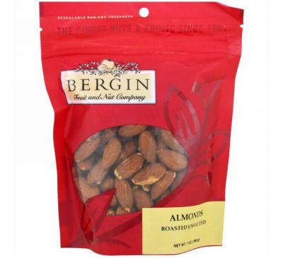 Bergin Fruit and Nut Company, Жареный миндаль, неупакованный, 198 г (7 унций)