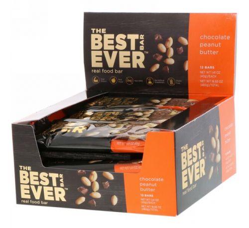 Best Bar Ever, Шоколадное арахисое масло, 12 батончиков, 1,41 унц. (40 г) каждый
