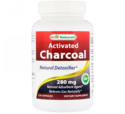 Best Naturals, Activated Charcoal, 280 mg, 120 Capsules