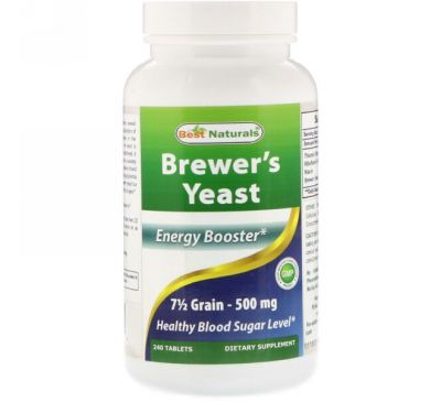Best Naturals, Brewer's Yeast, 500 mg, 240 Tablets