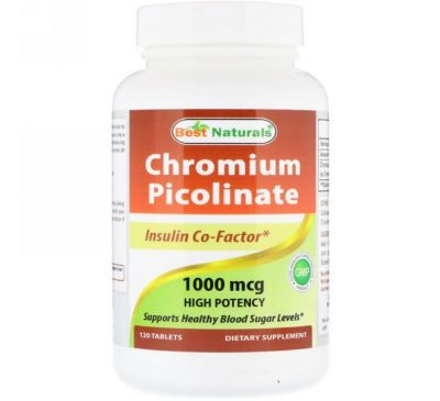 Best Naturals, Chromium Picolinate, 1000 mcg , 120 Tablets