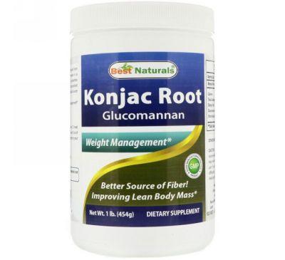 Best Naturals, Konjac Root Glucomannan Powder, 1 lb (454 g)