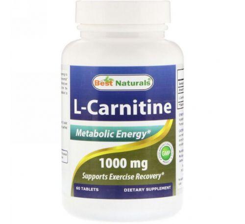 Best Naturals, L-Carnitine, 1000 mg, 60 Tablets